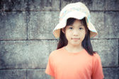 Little girl with hat — Stock Photo