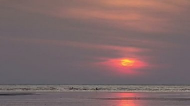 Sunrise Time Lapse over Andaman sea — Stock Video