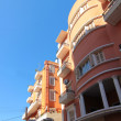 Orange building over blue sky, Tripoli, Lebanon — Stock Photo