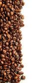 Kaffe på vit bakgrund — Stockfoto