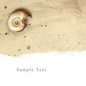 Sand and white space for text — Stock Photo