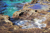 Rocky coast of the Mediterranean sea — Stock Photo