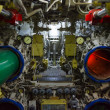 Torpedo room and torpedoes - Stock Photo