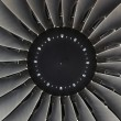 Jet engine passenger plane - Stock Photo