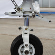 Front landing gear light aircraft — Stock Photo #13860709