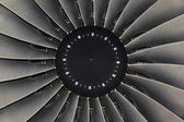 Jet engine passenger plane — Stock Photo