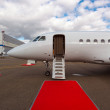 Ladder in a private jet — Stock Photo