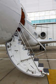 Ladder in a private jet — Foto Stock