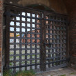 Stock Photo: Russicarved wooden gate into churchyard