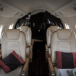 Stock Photo: Luxury interior aircraft business aviation