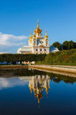 Palace church of Saints Peter and Paul in Peterhof — Stock Photo