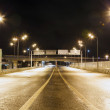 Stock Photo: City Road overpass at night