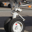 Front landing gear light aircraft — Stock Photo #19155665