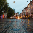 The old city of Lviv at night — Stock Photo