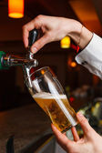The bartender hand — Stock Photo