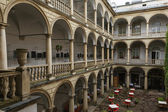 Courtyard colonnade of the palace — Stock Photo