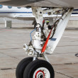 Front landing gear light aircraft — Stock Photo #20334213