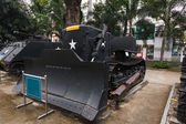 Military bulldozer in the museum — Stock Photo