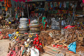 Street market with tools — Stock Photo
