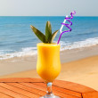 Pineapple and mango juice — Stock Photo
