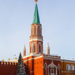 Nikolskaya tower of Moscow Kremlin — Stock Photo