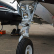 Front landing gear light aircraft — Stock Photo