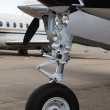 Front landing gear light aircraft — Stock Photo #23203902