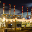 Pipe plant at night — Stock Photo