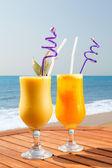 Pineapple, mango and passion fruit juice — Stock Photo