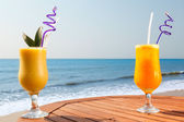 Pineapple, mango and passion fruit juice — Stock Photo