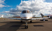 White reactive private jet — Stock Photo