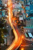Gece şehir panoraması saigon — Stok fotoğraf