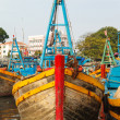 Stock Photo: Fishing boats Vietnam