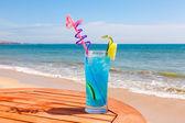 Cocktail blue lagoon — Stock Photo