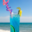 Cocktail blue lagoon — Stock Photo