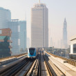 Metro Train in Dubai, United Arab Emirates — Stock Photo