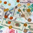 Stock Photo: Set of banknote and coins