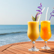 Stock Photo: Pineapple, mango and passion fruit juice