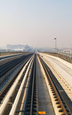 Metro Train in Dubai, United Arab Emirates — Stockfoto