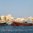 Abra boats crossing Dubai — Stock Photo