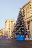 Árvore de Natal, manege quadrado, Moscou — Fotografia Stock