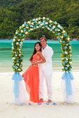 Wedding ceremony on the beach — Stock Photo