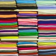 Colorful fabric rolls — Stock Photo