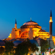 Hagia Sophia with sunset on a background — Stock Photo