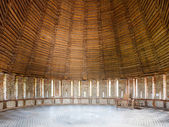 Wooden dome of the defensive towers from inside — Stock Photo