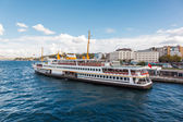Traditional Istanbul passenger ferry — Stock Photo