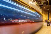 Night motion on urban streets — Стоковое фото