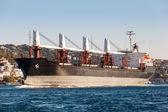 Large ship tanker proceeding along the Bosphorus — Stock Photo