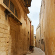 Maltese narrow street Mdina, Malta — Stock Photo #44376857