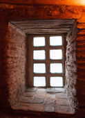 Old Window in the corridor — Stock Photo